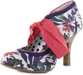 2249ee92c6f4f Ruby Shoo Women's Willow Sage Floral Ankle Wrap High Heel Pump