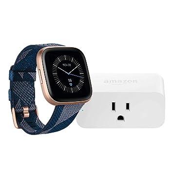 Amazon.com: Fitbit Versa 2 Smartwatch (Navy & Pink Woven ...