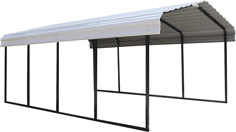 Arrow 12' x 20' x 7' 29-Gauge Carport with Galvanized Steel Roof Panels