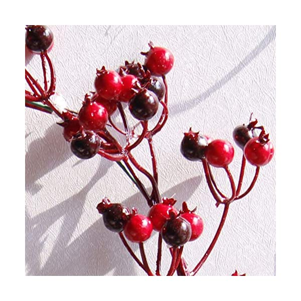 Fake-Flower-Christmas-Wreaths-Artificial-Berries-Natural-Pine-Nuts-Combination-Garlands-Christmas-Decoration-for-Home-Party-Outdoor-45Cm45Cm-Red