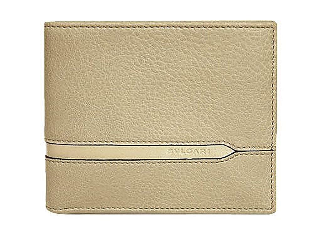 ブルガリ 財布 37160 BVLGARI メンズ 二つ折り札入れ BVLGARIロゴ カーフ ベージュ [並行輸入品] B072QYFY8Z