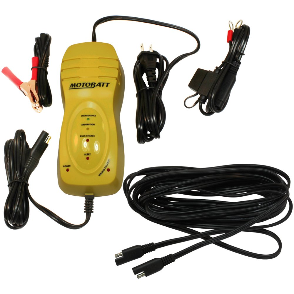 MotoBatt Big Boy 12V 1.25 Amp Battery Charger and Maintainer with 25' Extension Cable