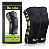 Awenia Knee Braces Support Compression Sleeves 1 Pair or Single for Running Arthritis ACL Meniscus Tear Joint Pain Relief and Injury Recovery Basketball and More Sports (FDA Approved)