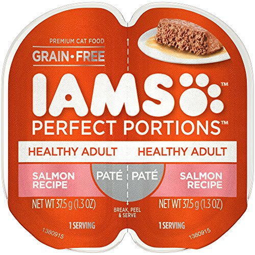 s Grain Free Adult Wet Cat Food Paté Salmon Recipe, (24) 2.6 Oz. Twin-Pack Trays ()