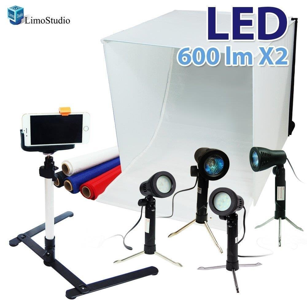 LimoStudio 24'' Folding Photo Box Tent LED Light Table Top Photography Studio Kit, AGG1071 by LimoStudio