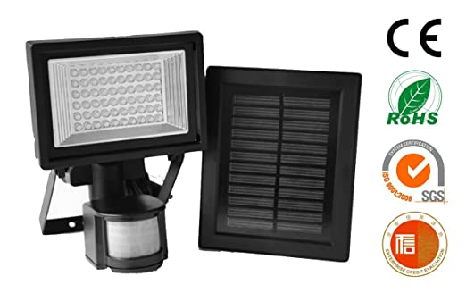 Amazon com   Home Lighting Outdoor LED Security Lights with Motion Sensor  and Solar Panel for Wireless Outdoor Lights  Color Black LED Floodlights By  Solar. Amazon com   Home Lighting Outdoor LED Security Lights with Motion