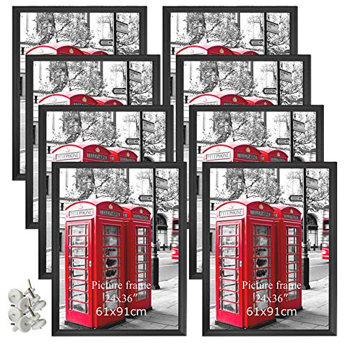 Giftgarden 24x36 Poster Frames 8 Pack Black Picture Photo Frame