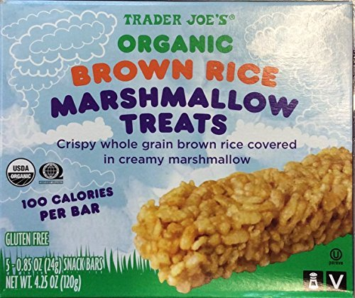 Trader Joe's Organic Brown Rice Marshmallow Treats 5 Bars (2 Count)