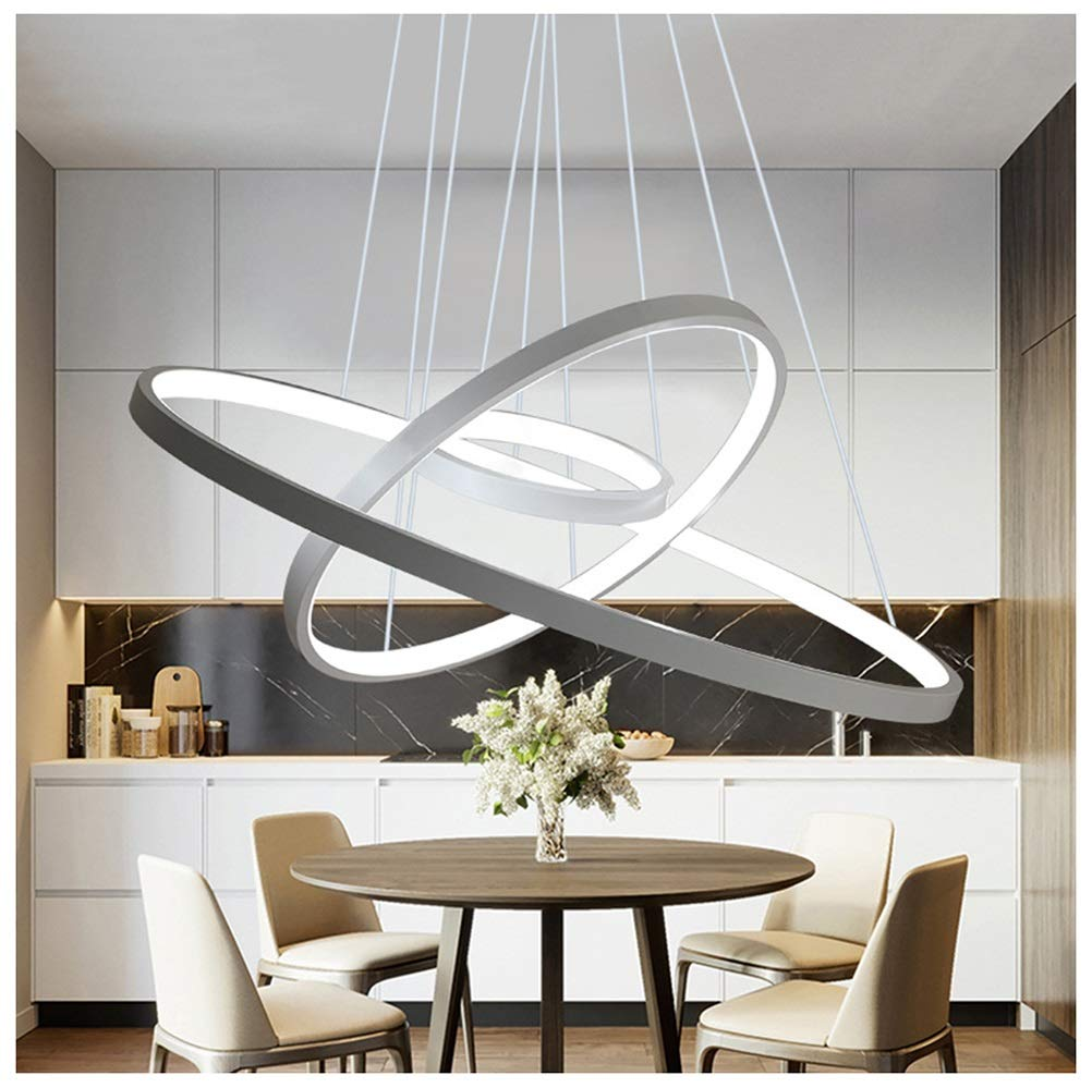 雪丽的家居 クリエイティブレストランペンダントライト現代のシンプルなシャンデリアホームLED研究室天井照明人格備品 - 白   B07TP7FH3Z