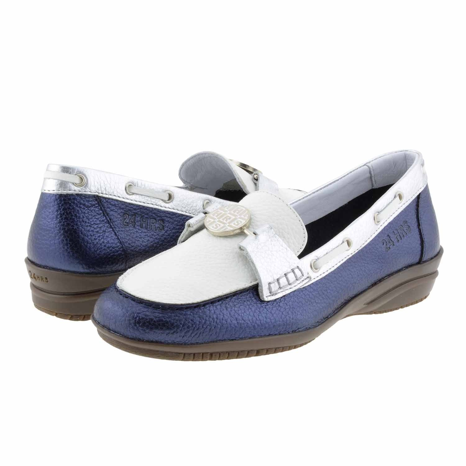 Mocasines piel 23158 de 24 Horas Talla: 40 Color: MARINO: Amazon.es: Zapatos y complementos