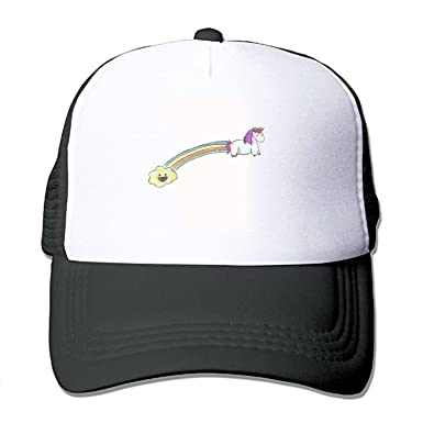 1a5ebea1c6a55e Amazon.com: Unicorn Farting Rainbows Adjustable Printing£¬ Mesh Hat Unisex  Adult Baseball.: Clothing