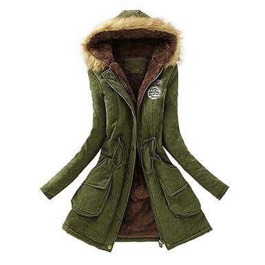 deb18c34911ba Women's coat, Toamen Womens Winter Cotton Warm Long Coat Fur Collar Hooded  Jacket Slim Winter