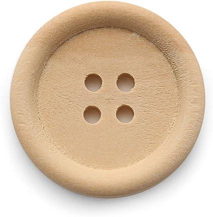 De madera ropa de coser botones delicado redondo DIY camisas botón de repuesto