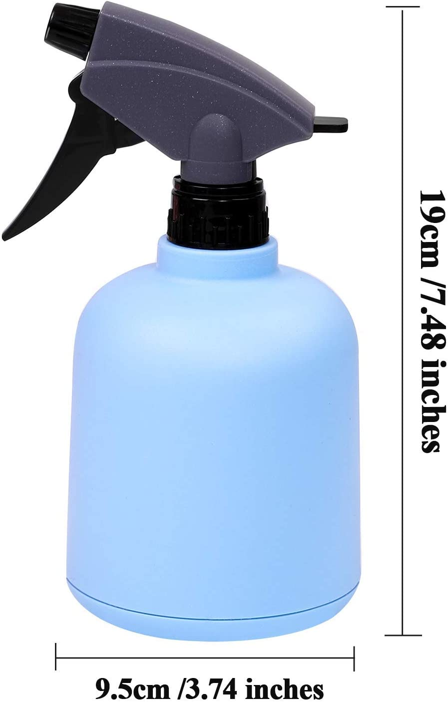 DZX 2 Pieces Blue and Pink Plastic Spray Bottle Empty Spray Bottle Colorful Bottles for Gardening, Cleaning, 600ml,mini watering can Blue, Yellow