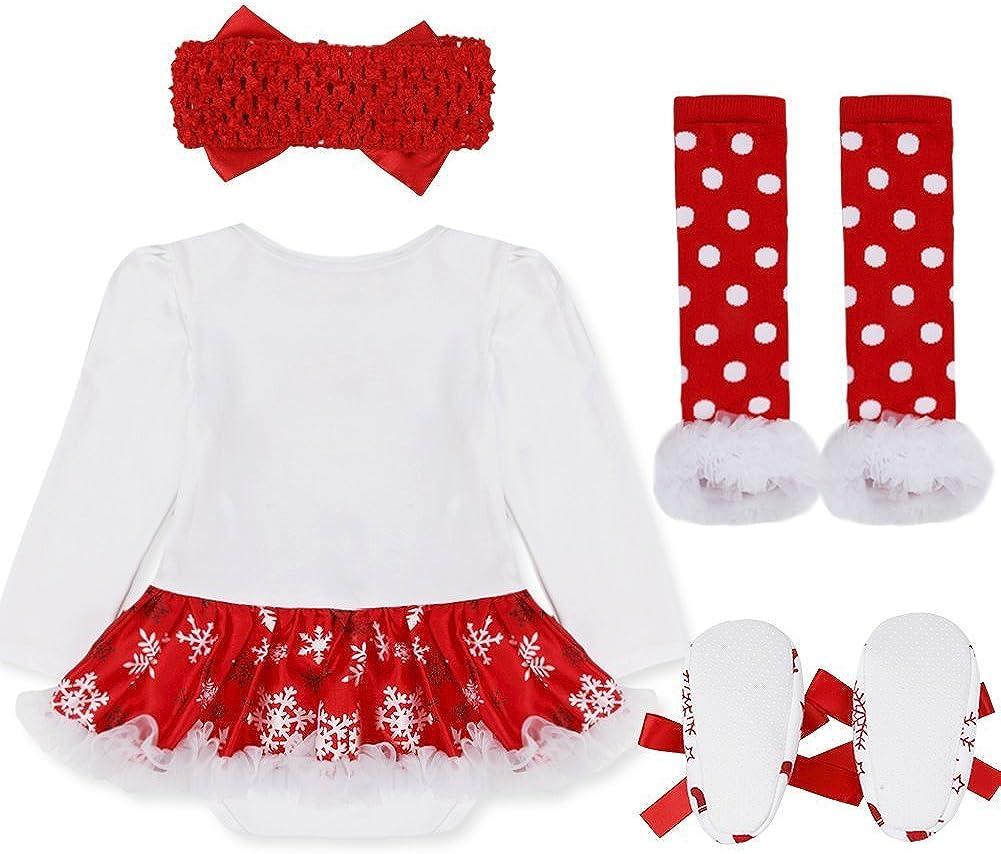 DecStore Bambina Vestito My First partito del costume di Natale Tutu Outfits