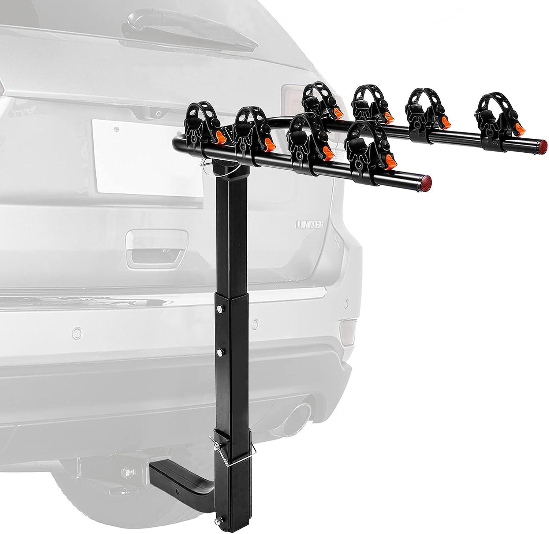 Tacklifetools 4-Bicycle Hitch Mounted Bike Rack Carrier $47.89 Coupon