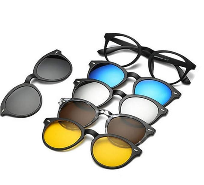 c82152923b01f REACTR- Original Polarized 5-in-1 Magnetic Clip on Sunglasses Plus Frame ( UNISEX
