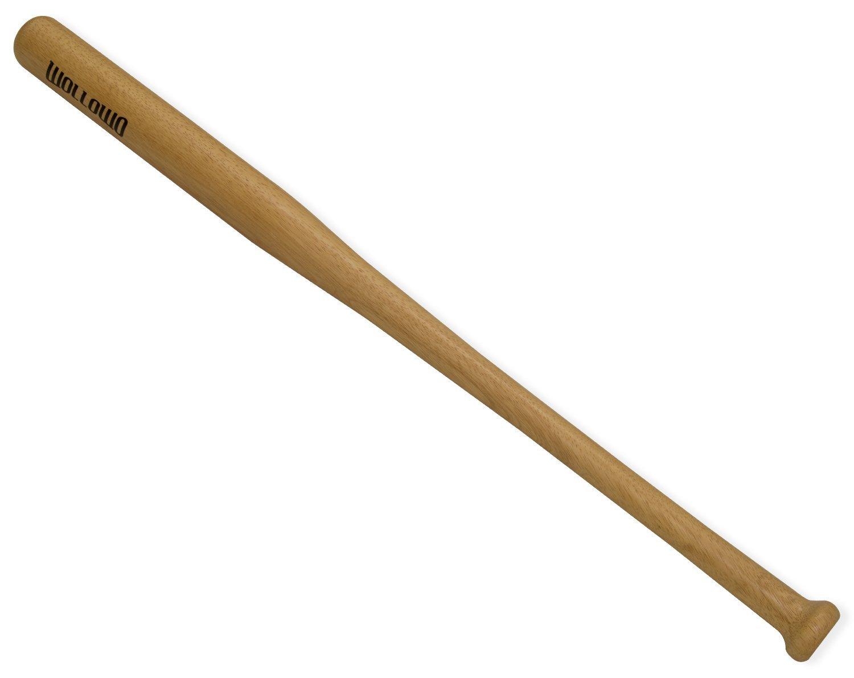 "Wollowo Heavy Duty Wooden Baseball/Rounders/Softball Bat 28""/30""/32""/34"""