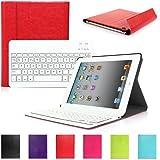 iPad 2 3 4 CoastaCloud QWERTY Italiano Layout Ultrathin Custodia con Supporto e Tastiera Bluetooth staccabile per Apple iPad 2 (A1395 A1396 A1397) ; iPad 3 (A1416 A1430 A1403); iPad 4 (A1458 A1459 A1460)Rosso