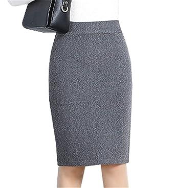 Falda Lápiz Falda De Encaje De Las Damas Longitud Mode De Marca De ...