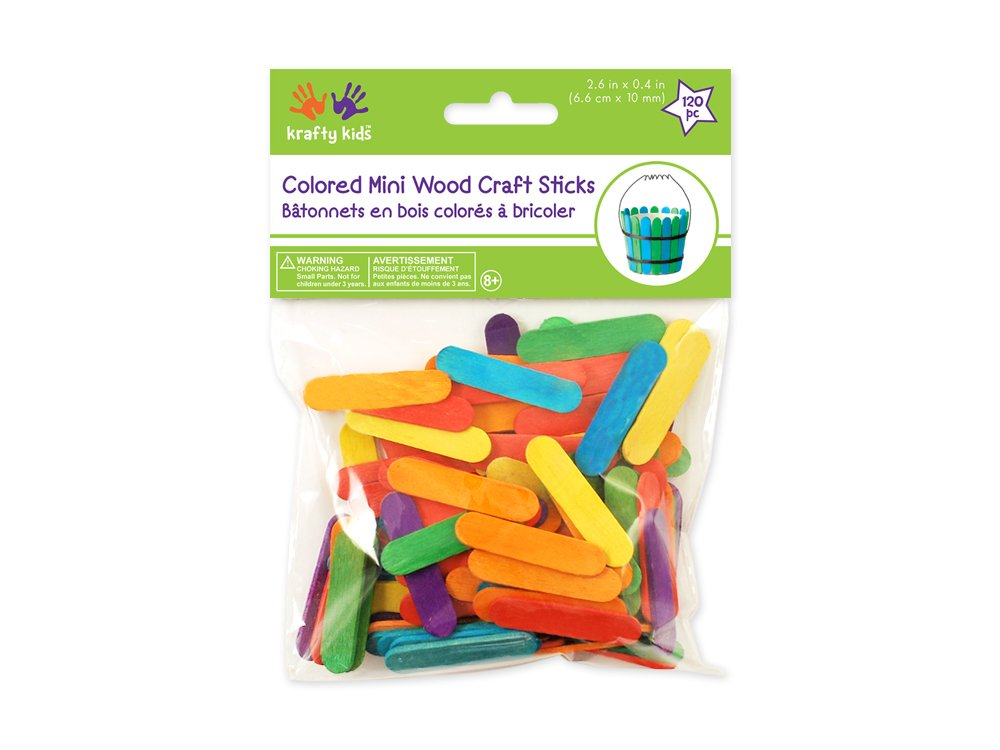"Mini Craft Sticks-Colored 1.5"" 120/Pkg Notions - In Network CW495"