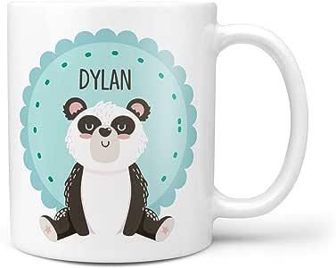 Taza personalizada del oso del panda para los niños té