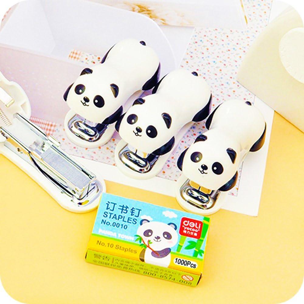 New Cute Panda Mini Desktop Stapler/&Staple Hand Stapler Office//Home