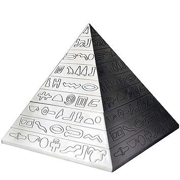 Hamr 24 Artesanías Decoración Pirámide Cigarro Cenicero Cigarrillo Cenizas Bandejas Pub Mesa Ceniceros Retro Talla Escritorio