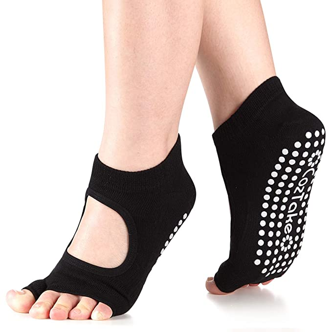 Yoga Socks Non Slip Pilates Barre Ballet Toes with Grips for Women