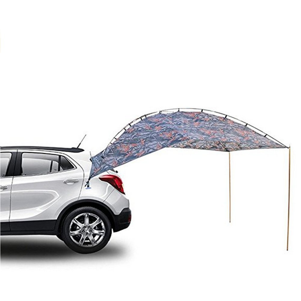 L& Z Montaje Fácil Camping SUV Carpa/Toldo/Canopy/Sun Shelter Tienda Tailgate Tienda De Playa Apto Para SUV Mini Van Campers Rvs Impermeable Con Sunwall Ajustable