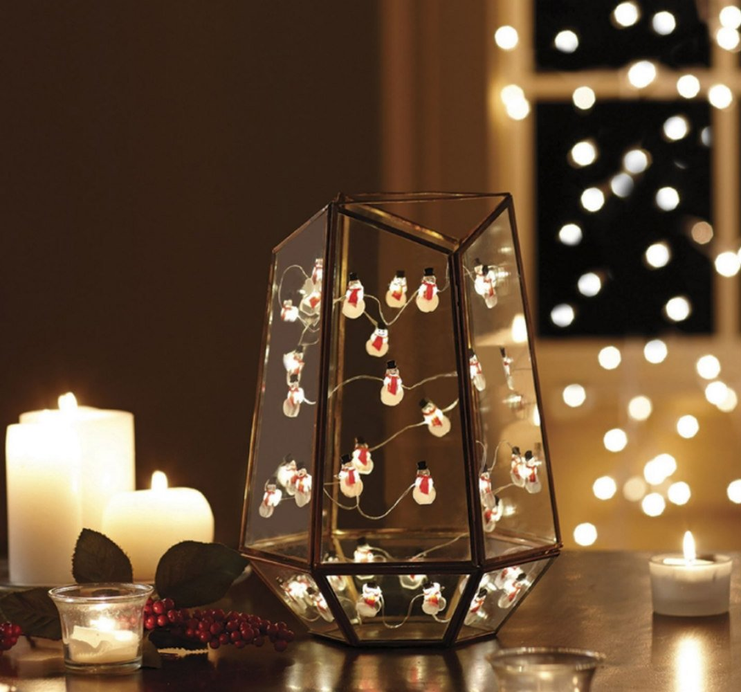 40 Count LED Indoor//Outdoor Lighted Fairy Mini Christmas Ornaments Battery Operated Lights with Built in 4-Hour Timer Order Home Collection 10 Ft Decorative String Mixed