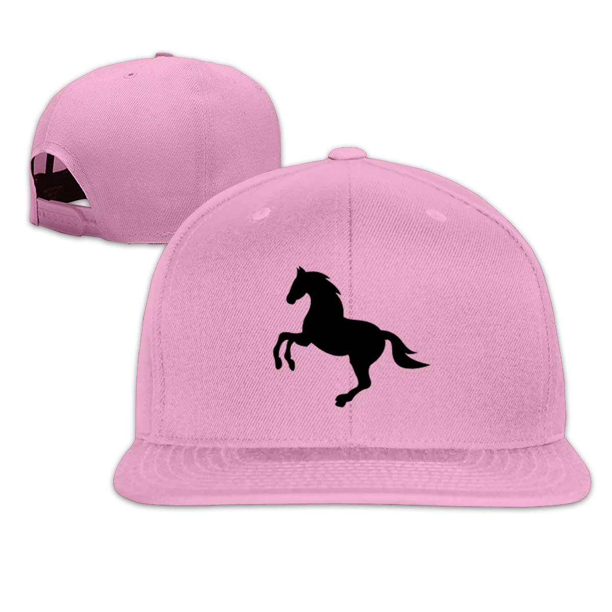 Xieadery Running Horse Flat Brim Baseball Cap Adjustable Snapback Trucker Hat Caps Hip Hop Hat