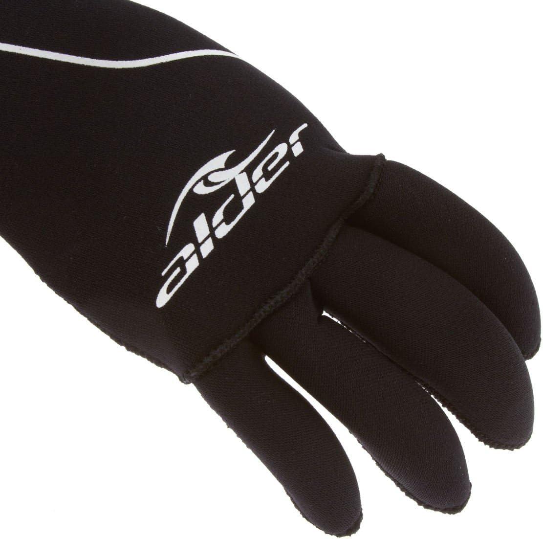 Alder Junior Edge Wetsuit Gloves in Black 5 Finger Wetsuit Gloves