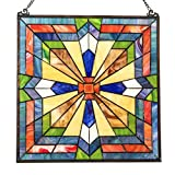 18'' Tiffany Style Stained Glass Southwest Sunburst Window Panel