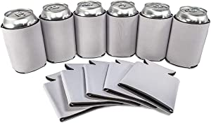 White Blank Can Sleeves - Collapsible Can Coolers - Bulk DIY, Wedding, Bachelorette Party - 25 Pack