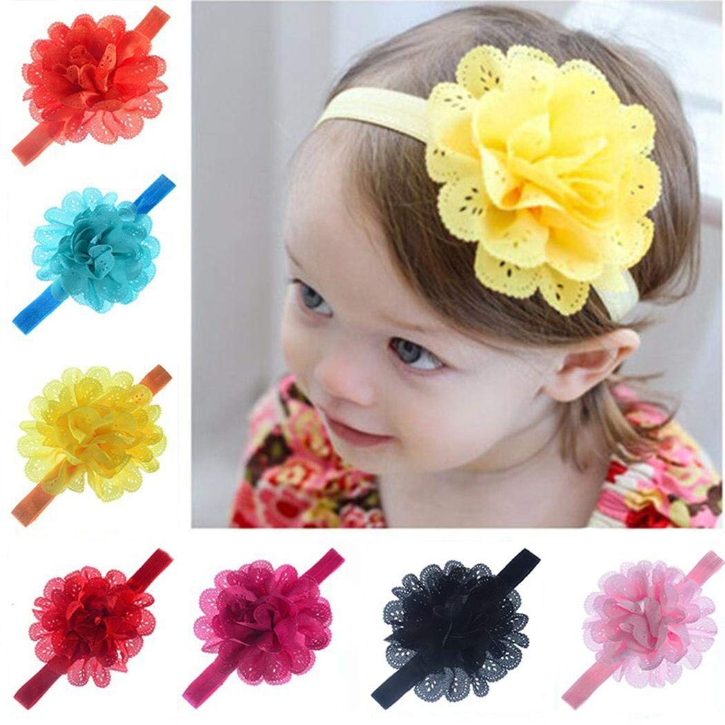 Baby Girls Kid Newborn Infant Toddler Headband Head Foot Flower Hair Accessories