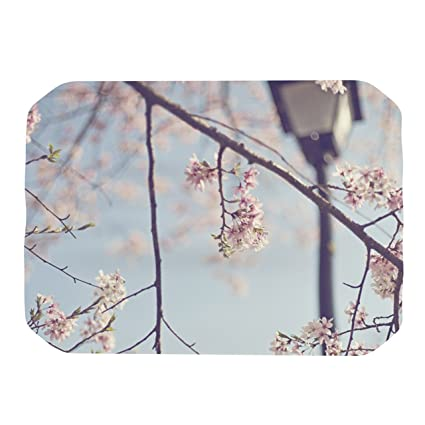 Kess InHouse Catherine McDonald Walk with Me Cherry Blossom Placemat 18 by 13-Inch