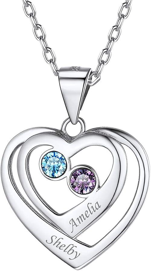 925 Sterling Silver Heart Bracelet Gift for Mother  Sister  Girlfriend HEARTS Name  Initials Personalised Bracelet Engraved Bracelet