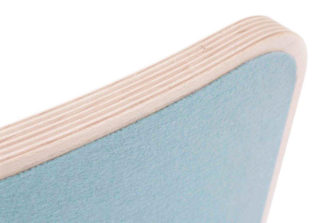 whitewashed Wobbel Filzfarbe w/ählbar hellblau Wobbel Board