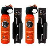 Udap Bear Spray Safety Orange Color Griz Guard Holster (2 Pack)
