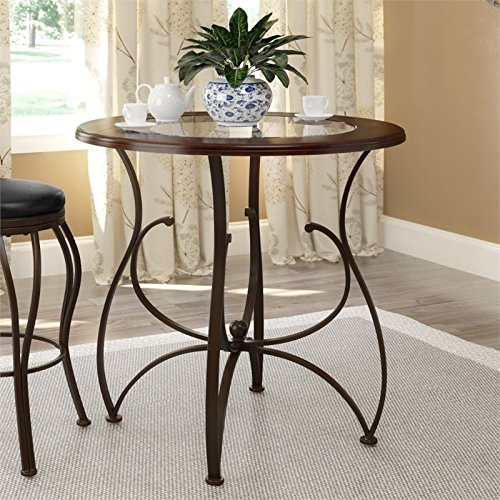 Cheap Atlin Designs 36″ Wood Glass Counter Height Dining Table