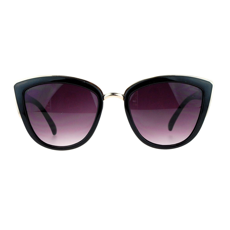 36d4e6f601d on sale SA106 Runway Fashion Metal Bridge Trim Oversized Cat Eye Sunglasses