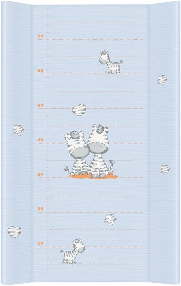 Cambiador Bebe Impermeable para Niños y Niñas - Cebra Azul 80x50 cm