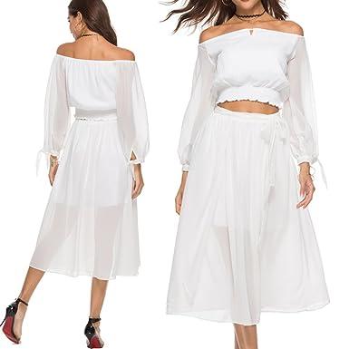 vestido de verano tops para las mujeres con la parte superior del ...