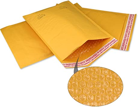 Yens® 50 #5 Poly Bubble Padded Envelopes Mailers 10.5 X 16