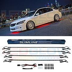 4pc Red Slimline LED