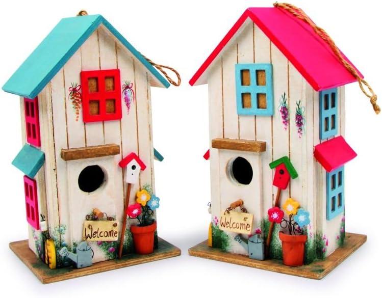 Small Foot by Legler- Casitas con Adornos detallados para pájaros, Acogedor hogar para pájaros cantores en Invierno, con Solapa con Cierre.
