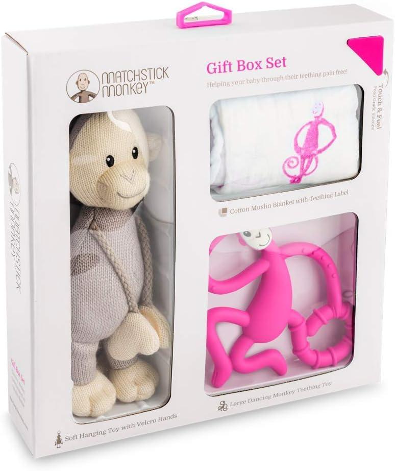 Matchstick Coffret cadeau de dentition Singe Rose