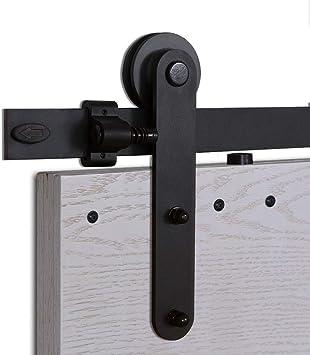 200CM/6.6FT Herraje para Puerta Corredera Kit de Accesorios para Puertas Correderas Conjunto de Piezas de Metal Carril para Puerta Deslizante: Amazon.es: Bricolaje y herramientas