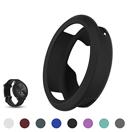 Garmin vivomove HR Hybrid Smartwatch Replacement Band Cover Protector Sleeve, Feskio Soft Silicone Shockproof and Shatter-resistant Sleeve Band Cover ...